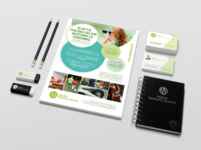 Egedal Kulturelt Samråd, logo, flyer, visitkort