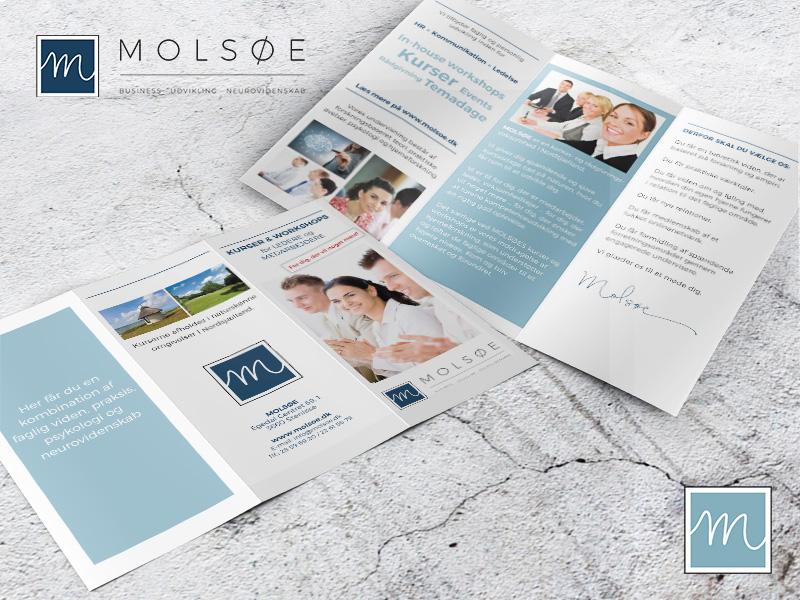 Molsøe, folder, brochure