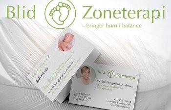 Blid Zoneterapi, visitkort og rabatkort