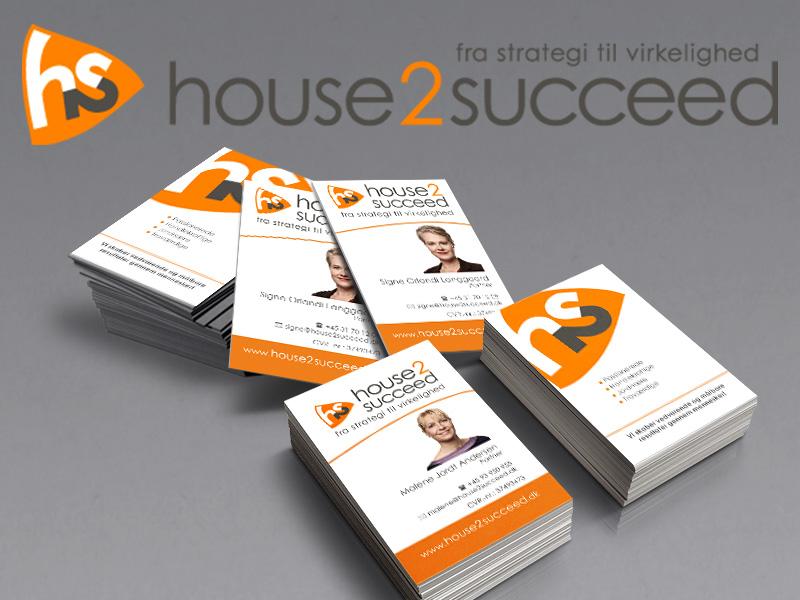 House2succeed, logo og visitkort