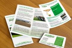 Græsrødderne, folder, visitkort, flyer